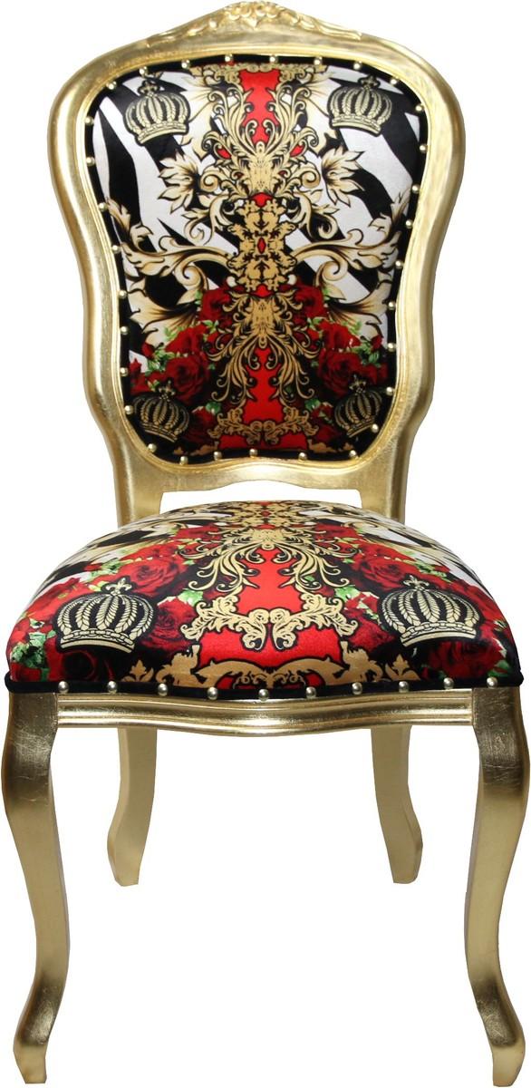 Pompöös By Casa Padrino Luxus Barock Esszimmer Stuhl Schwarz Weiß